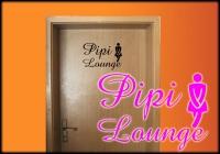 PIPI Lounge- WC Tür Aufkleber Frau Größe A4