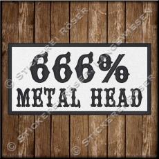 Aufnäher / Patch 666% METAL HEAD
