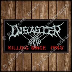 Besticktes Patch / Aufnäher 100 x 50 mm mit Disaster KFW Logo Original