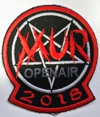 Besticktes Patch / Aufnäher MUR Open Air 2018 Limitiert auf 666 Stück rotem Rahmen