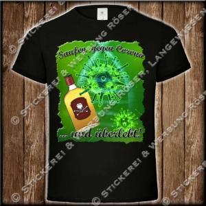 Saufen gegen Corona T-Shirt