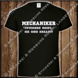 Mechaniker pfuschen nicht, Fun-Shirt