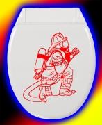 WC Deckel Aufkleber Firefighter Feuerwehrmann