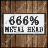 Aufnäher / Patch 666% METAL HEAD