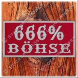 Aufnäher / Patch 666% BÖHSE