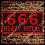 Aufnäher / Patch 666-HEAVY METAL