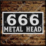 Aufnäher / Patch 666-METAL HEAD