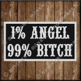 Aufnäher / Patch 1%Angel 99% Bitch