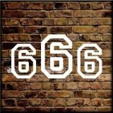 666 Girli  T-Shirt mit Brust oder Rückendruck 01