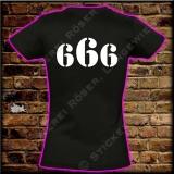 666 Girli  T-Shirt mit Brust oder Rückendruck 02