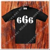 666-Kinder T-Shirt mit Brust oder Rückendruck 02