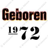 Kaffeebecher Geboren 1972