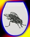 WC Deckel Aufkleber Fliege / Fly