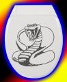 WC Deckel Aufkleber Cobra 01