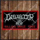 Besticktes Patch / Aufnäher 100 x 50 mm mit Disaster KFW Logo Exklusive 01