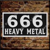 Aufnäher / Patch 666-HEAVY METAL