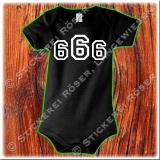 666 Babybody mit Brust oder Rückendruck