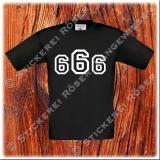 666-Kinder T-Shirt mit Brust oder Rückendruck 01