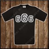 666 T-Shirt mit Brust oder Rückendruck 01