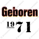 Kaffeebecher Geboren 1971