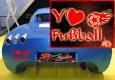 Autoaufkleber Y Love Fußball