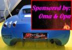 Autoaufkleber: Sponsored by Oma & Opa